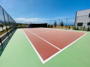 Tennis court & basketball
