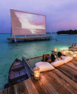 open air beach cinema